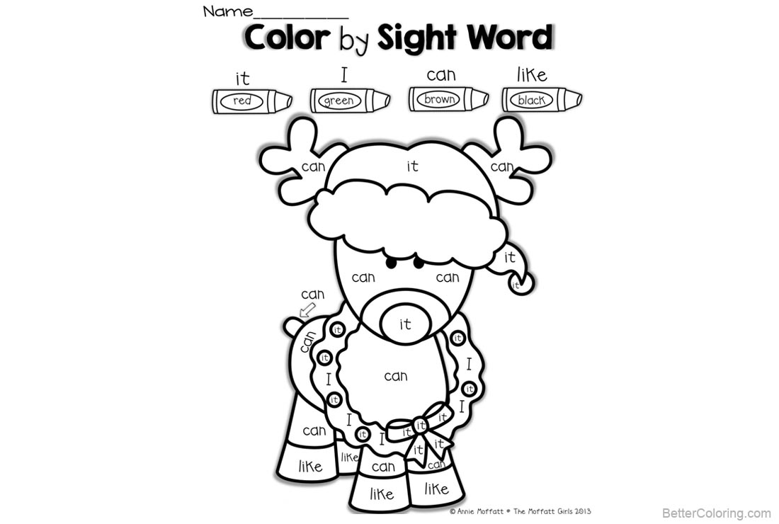 Sight Word Coloring Pages Clipart Sheep - Free Printable Coloring Pages