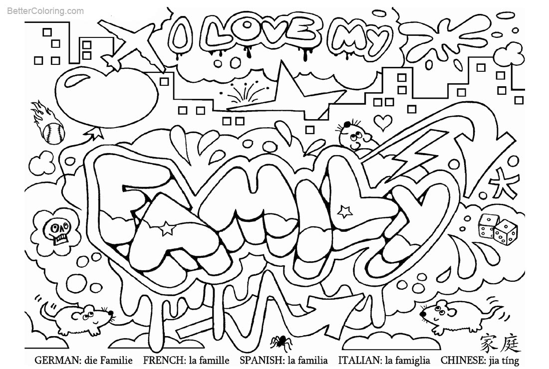 Sight Word Coloring Pages Family - Free Printable Coloring Pages