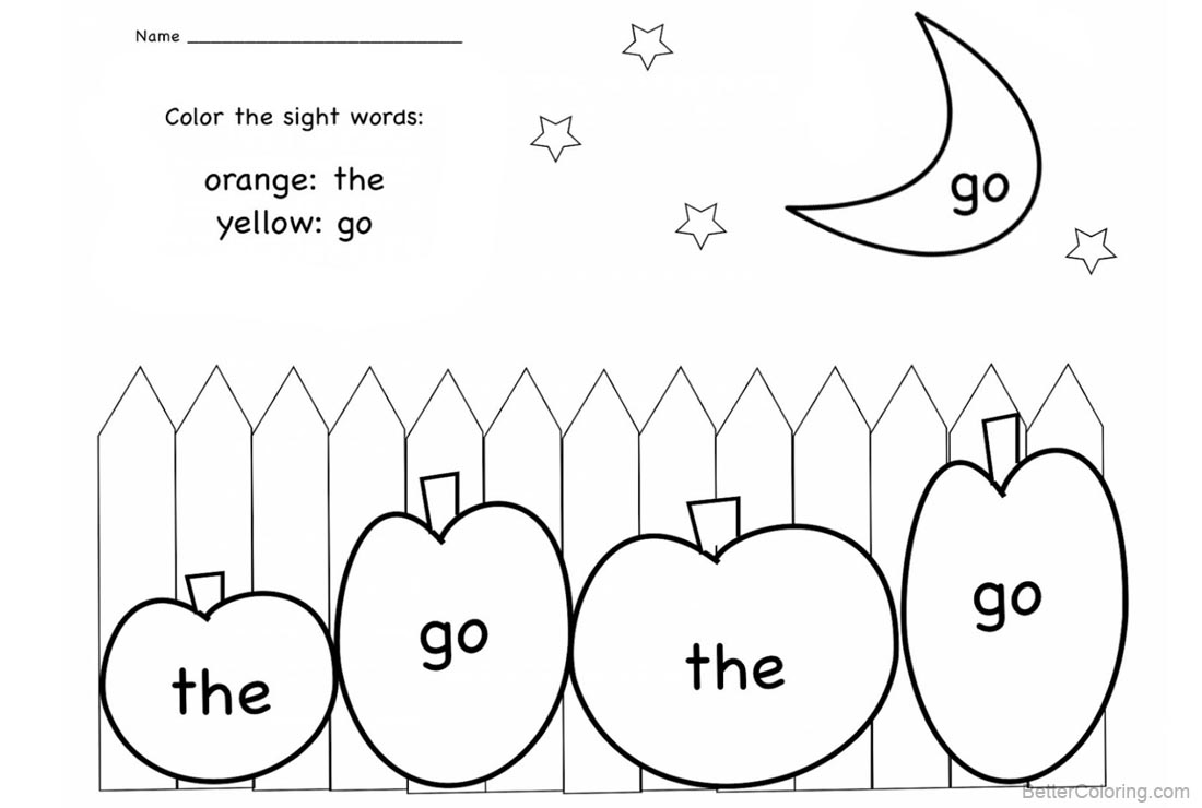 Sight word coloring pages worksheets moon and stars free printable free sight word coloring pages worksheets moon and stars printable for kids and adults ibookread ePUb