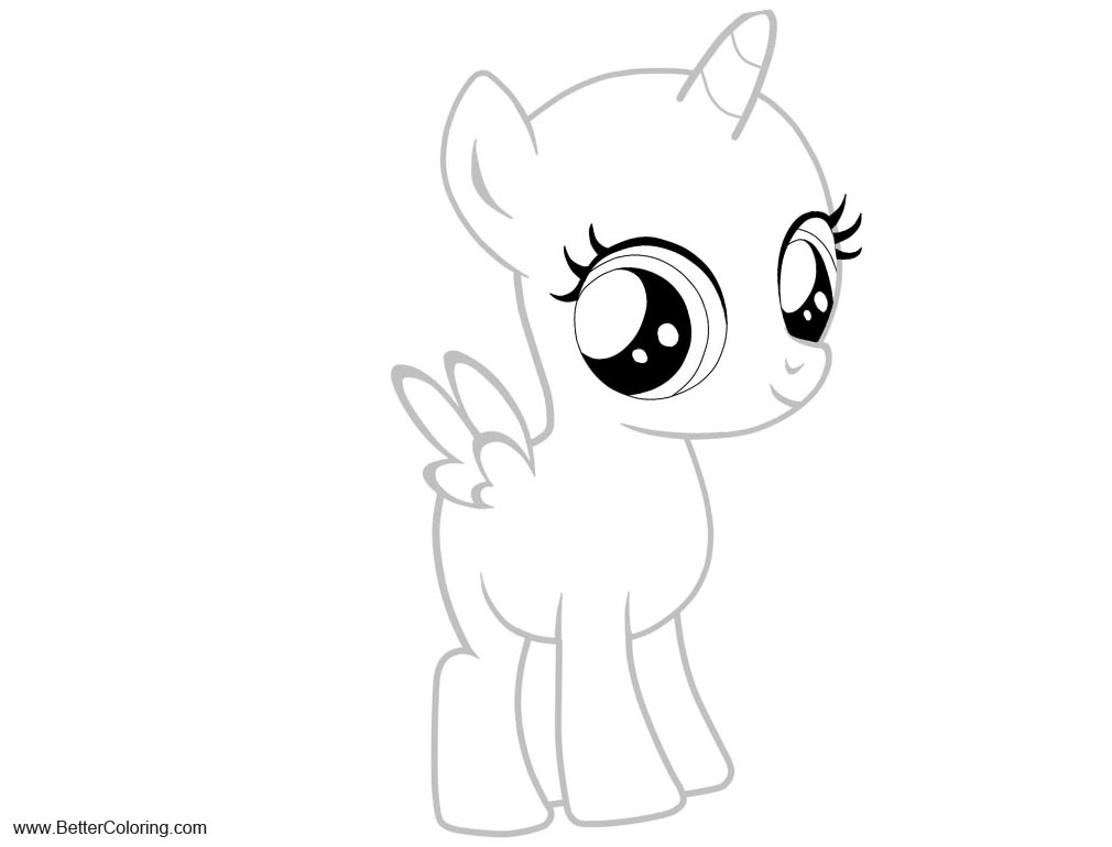 Free Simple Alicorn Coloring Pages by sumy chan printable