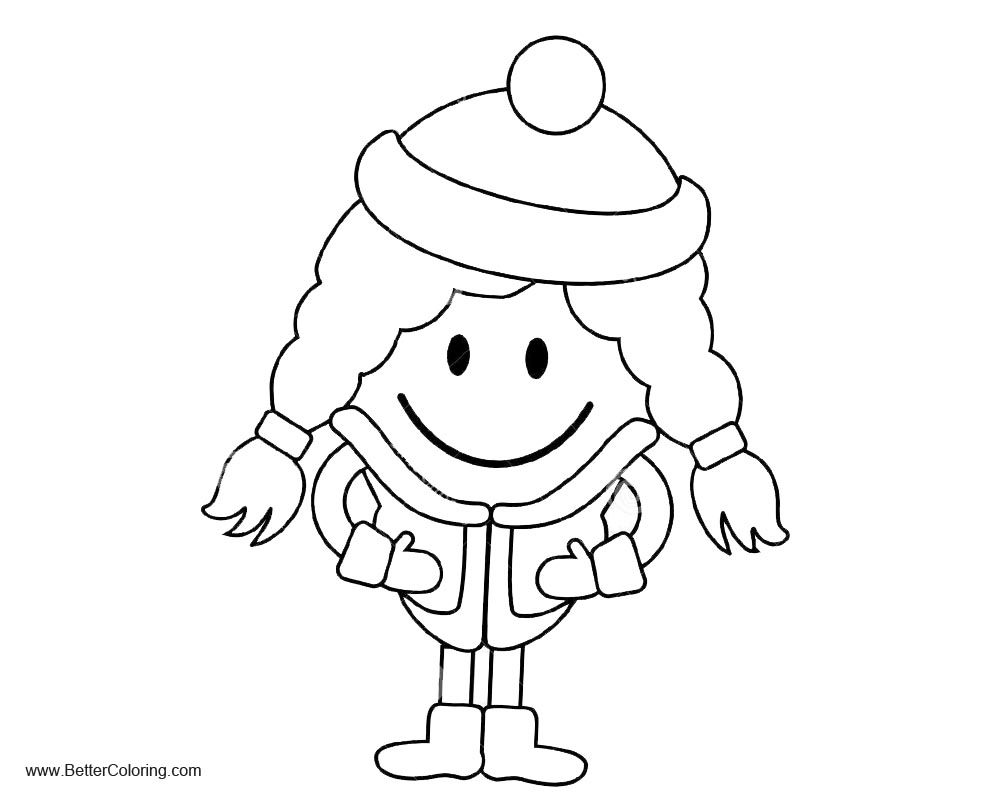 Free Simple Girly Coloring Pages printable