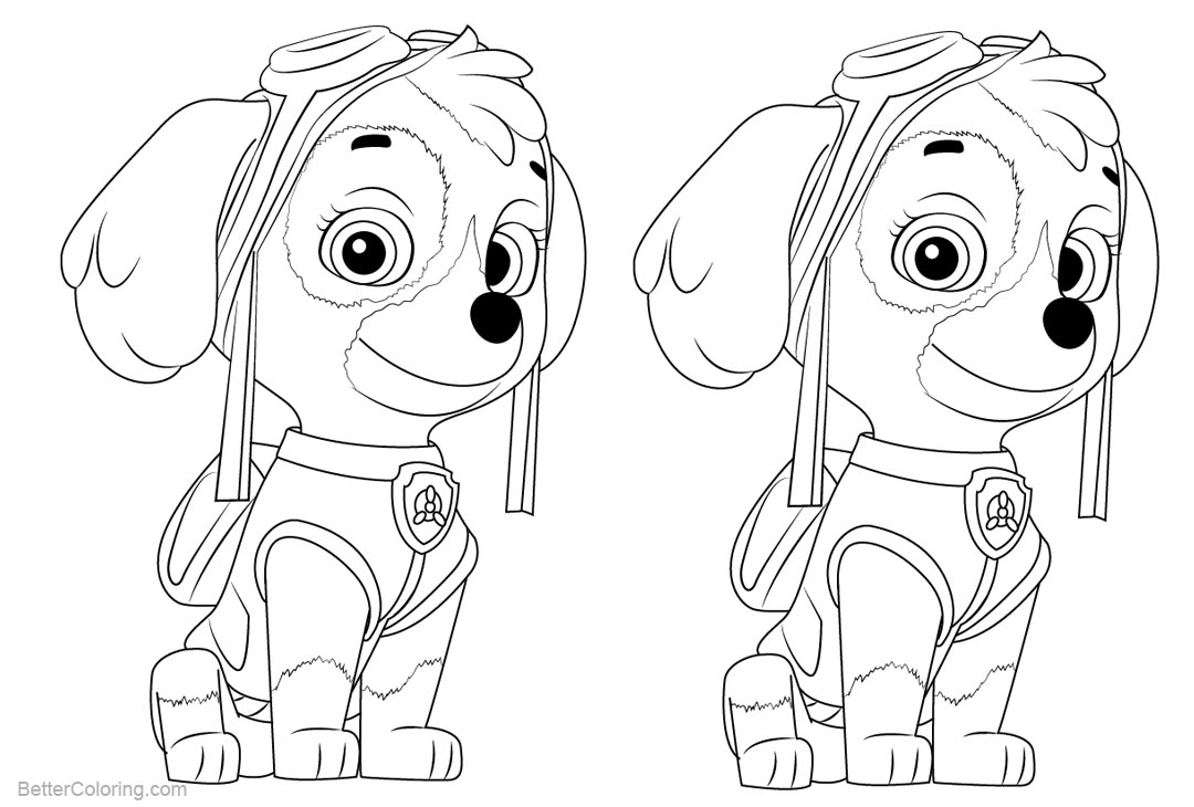 Skye From Paw Patrol Coloring Pages Free Printable Coloring Pages