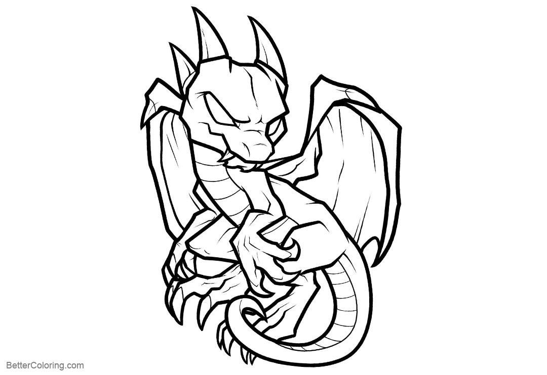 Free Skylanders Coloring Pages Baby Dragon printable