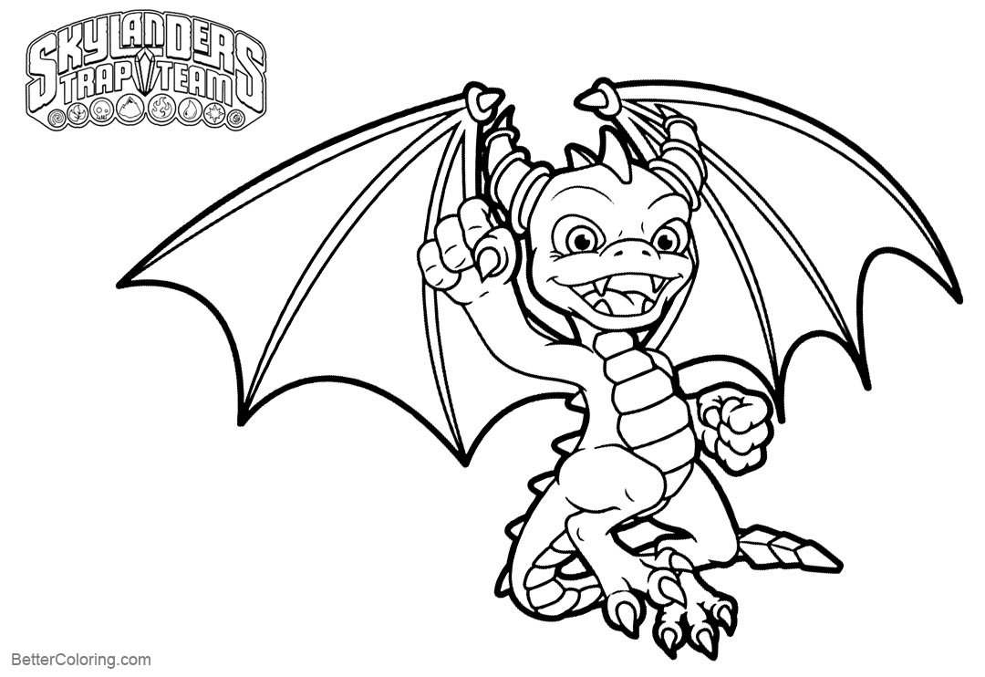 Free Skylanders Coloring Pages Spyro printable