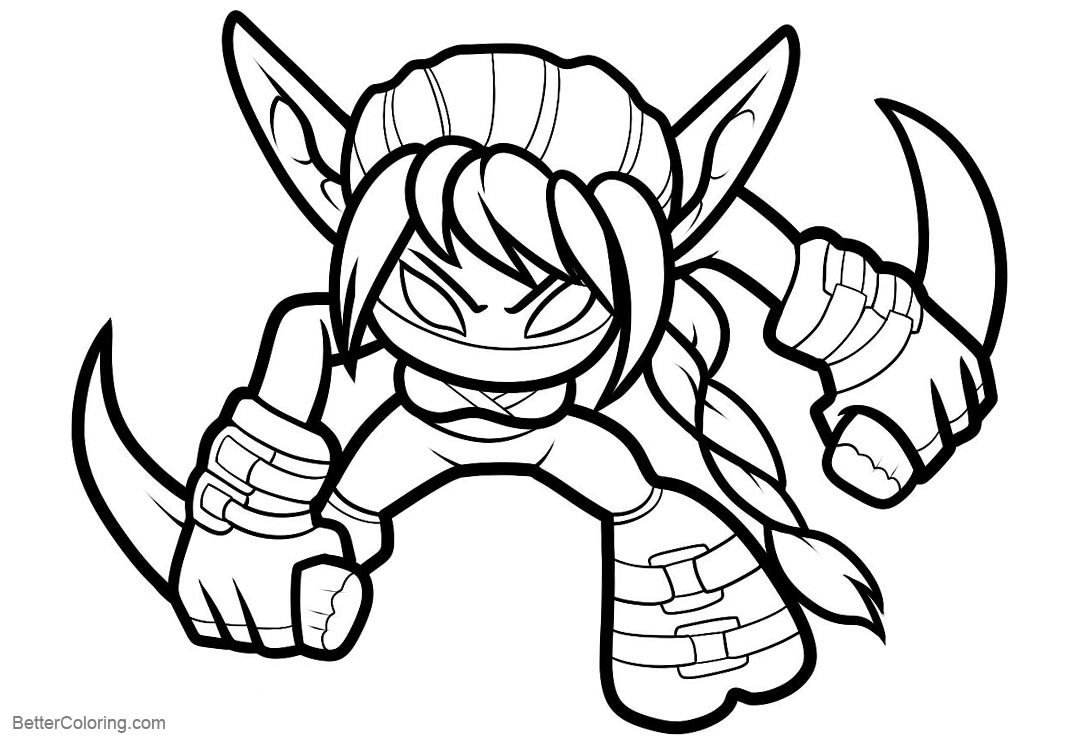 Skylanders Coloring Pages Stealth Elf - Free Printable Coloring Pages