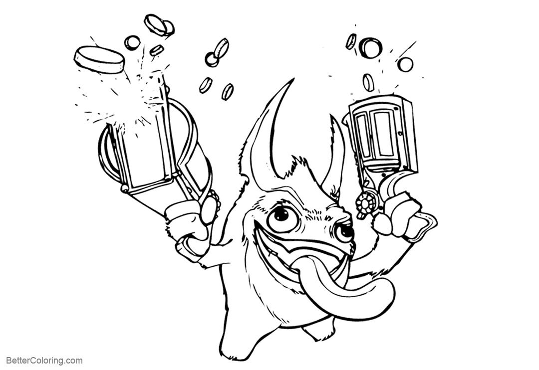 Free Skylanders Coloring Pages Trigger Lineart printable