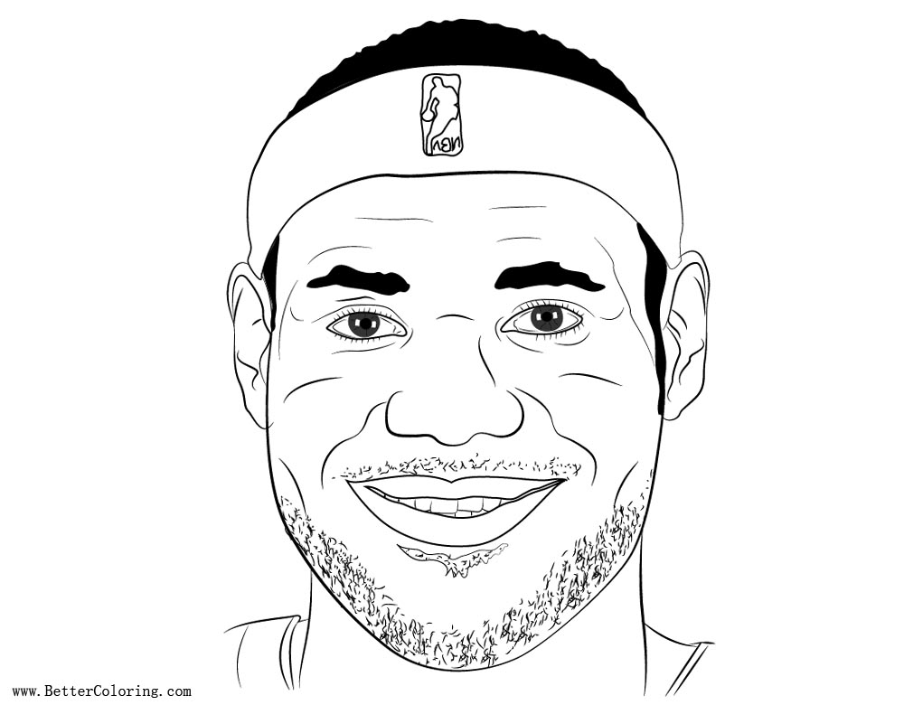 Smile Lebron James Coloring Pages