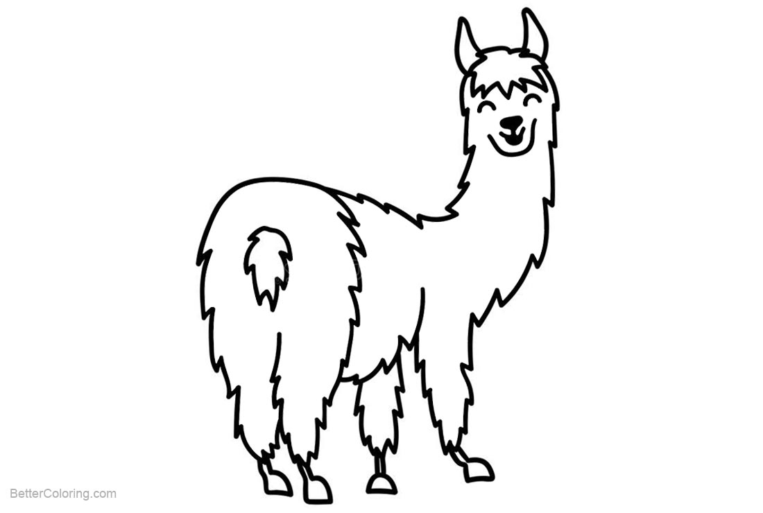 South America Llama Coloring Pages - Free Printable Coloring Pages