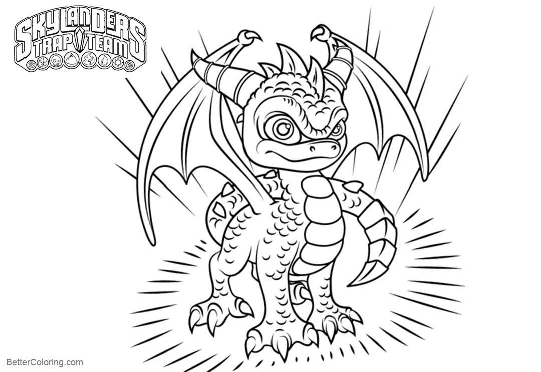 Free Spyro from Skylanders Coloring Pages printable