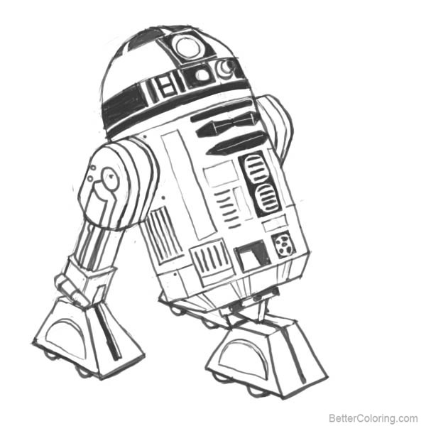 Free Star Wars Characters R2-D2 Coloring Pages printable