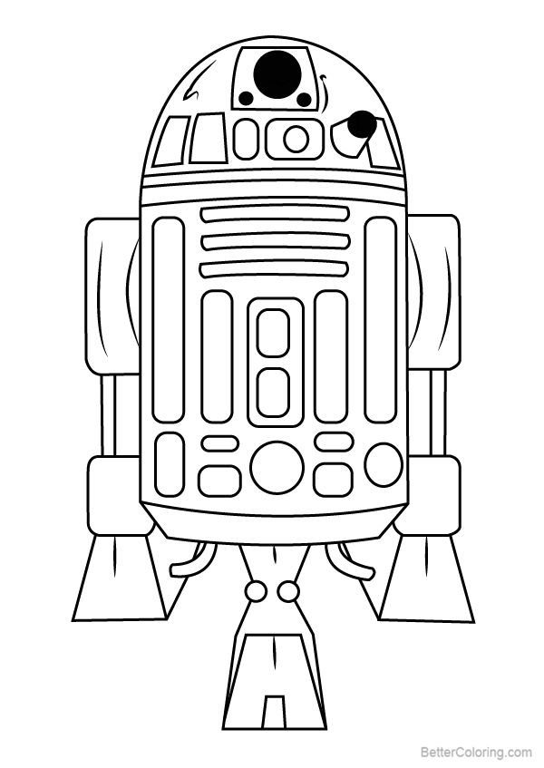 Star Wars R2d2 Coloring Pages Free Printable Coloring Pages