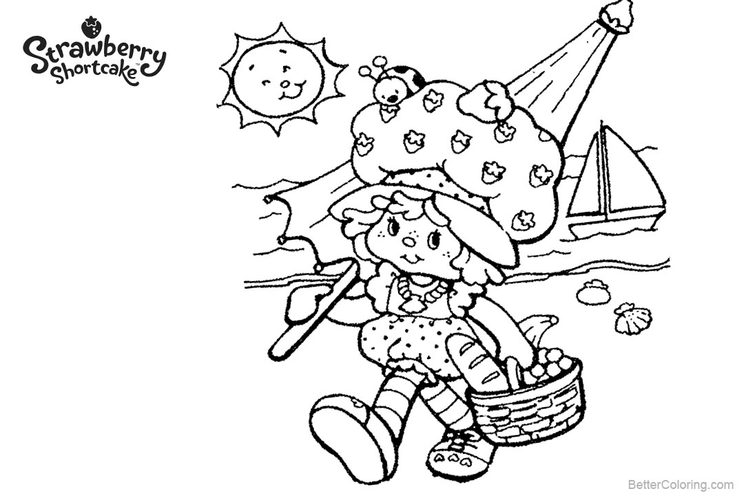 Free Strawberry Shortcake Coloring Pages A Blanket of Food printable