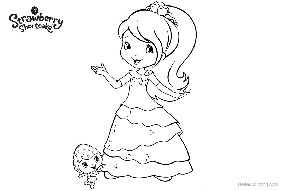 Strawberry Shortcake Coloring Pages Beautiful Skirt - Free Printable ...
