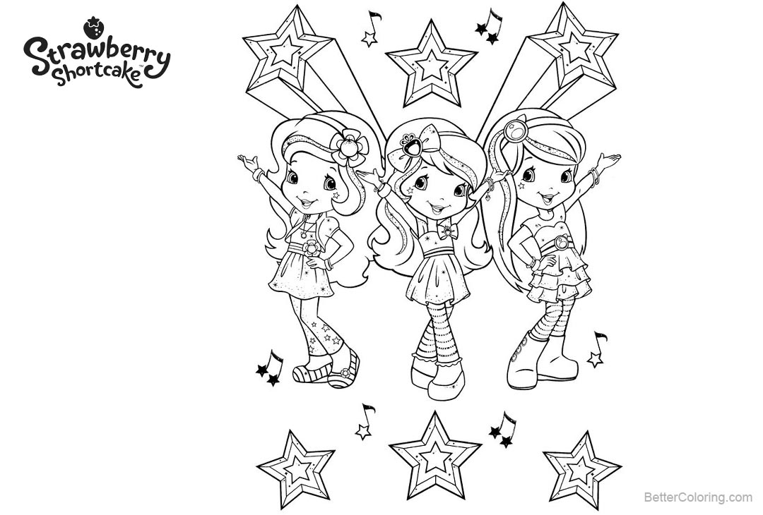 Strawberry Shortcake Coloring Pages Berry Tales - Free Printable ...