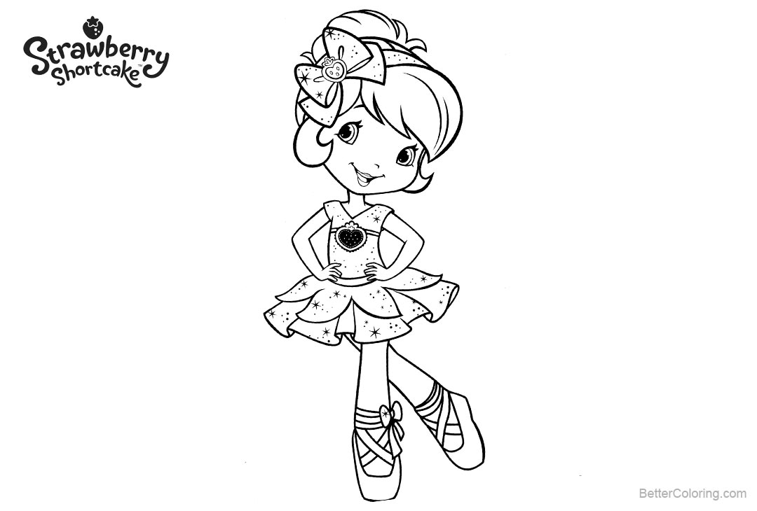 Free Strawberry Shortcake Coloring Pages Dancing Girl printable