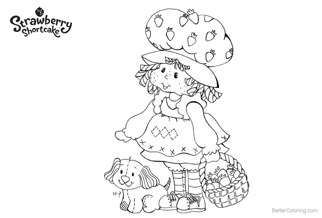 Free Strawberry Shortcake Coloring Pages Fanart printable