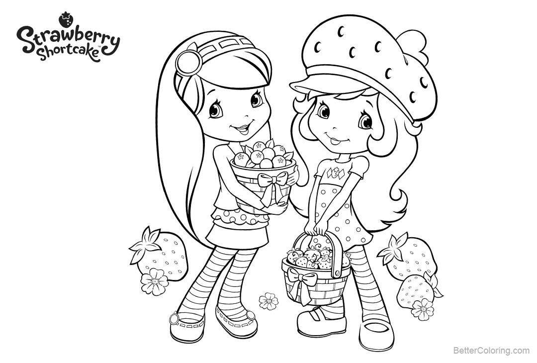 Free Strawberry Shortcake Coloring Pages Fruits Harvest printable