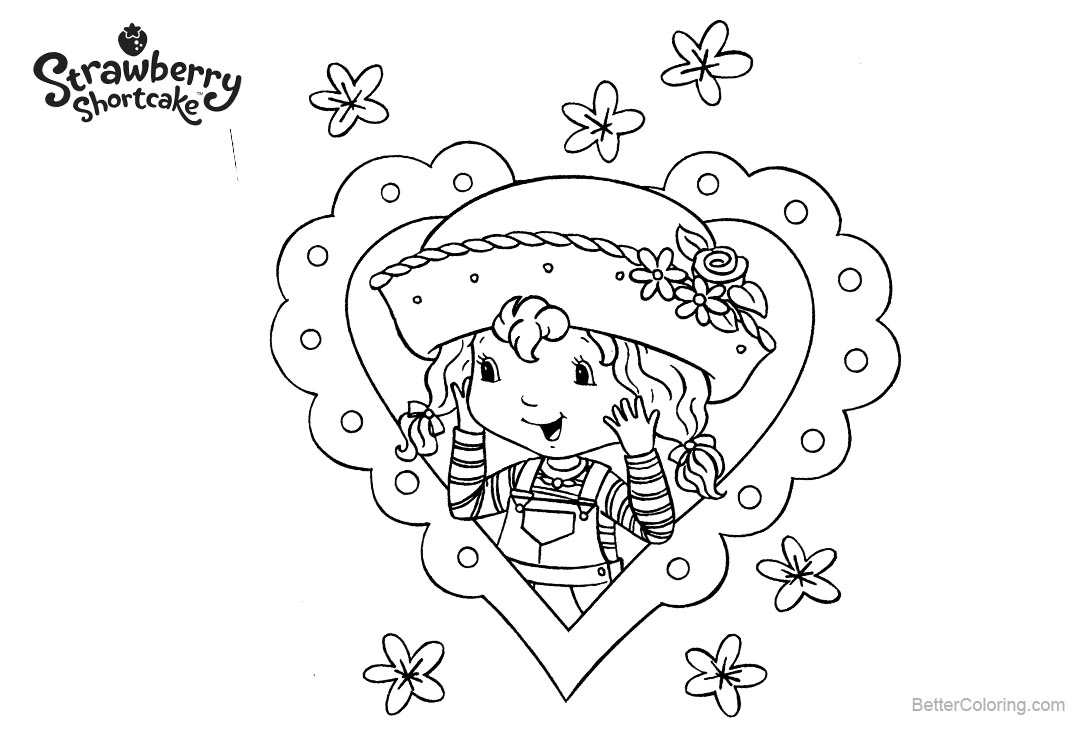 Free Strawberry Shortcake Coloring Pages Girl in Hat printable