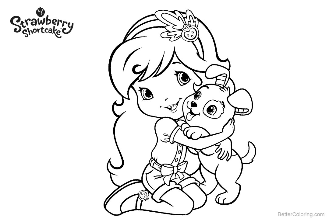 Strawberry shortcake coloring pages line drawing free for Strawberry shortcake characters coloring pages