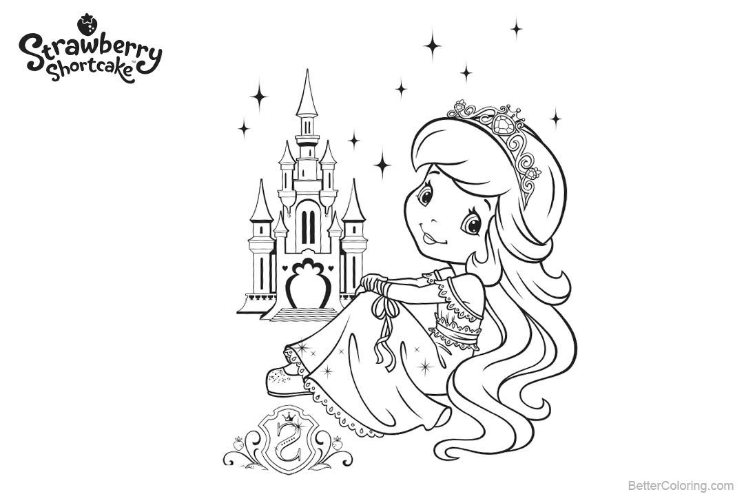 Free Strawberry Shortcake Coloring Pages Lineart printable