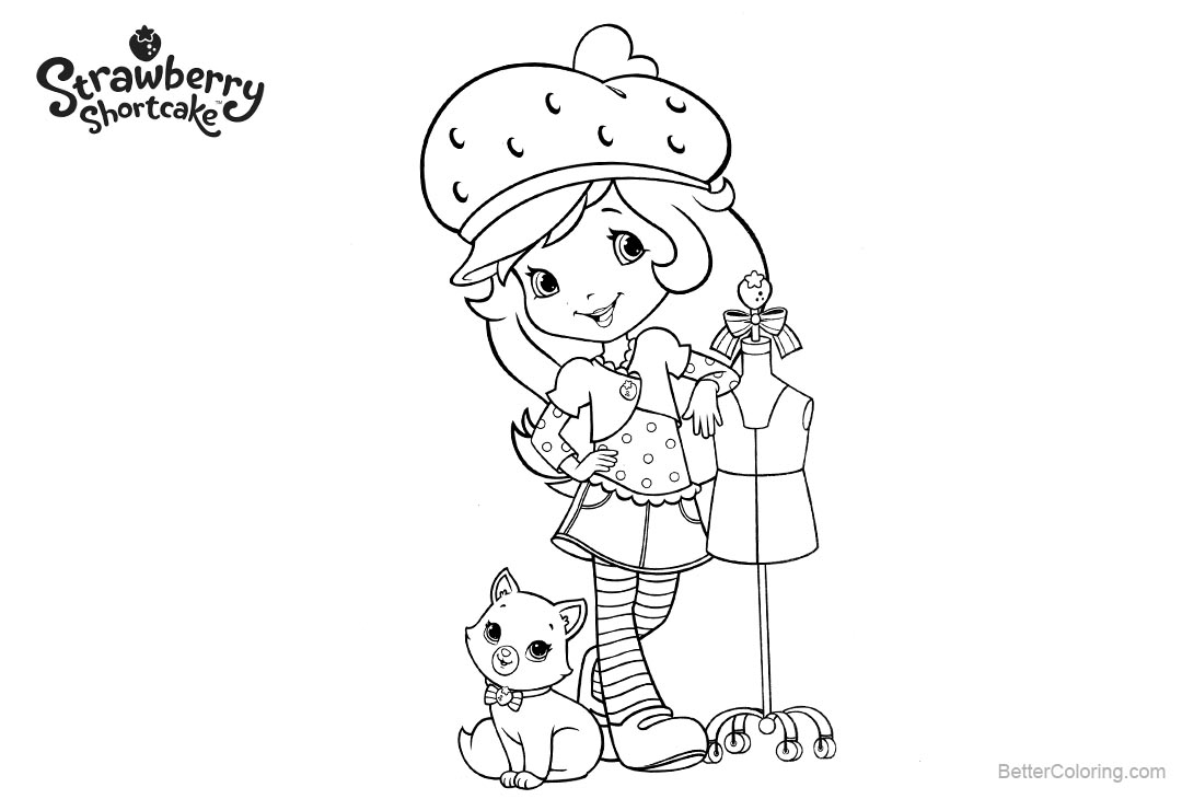 Strawberry Shortcake Coloring Pages New Clothes - Free Printable ...