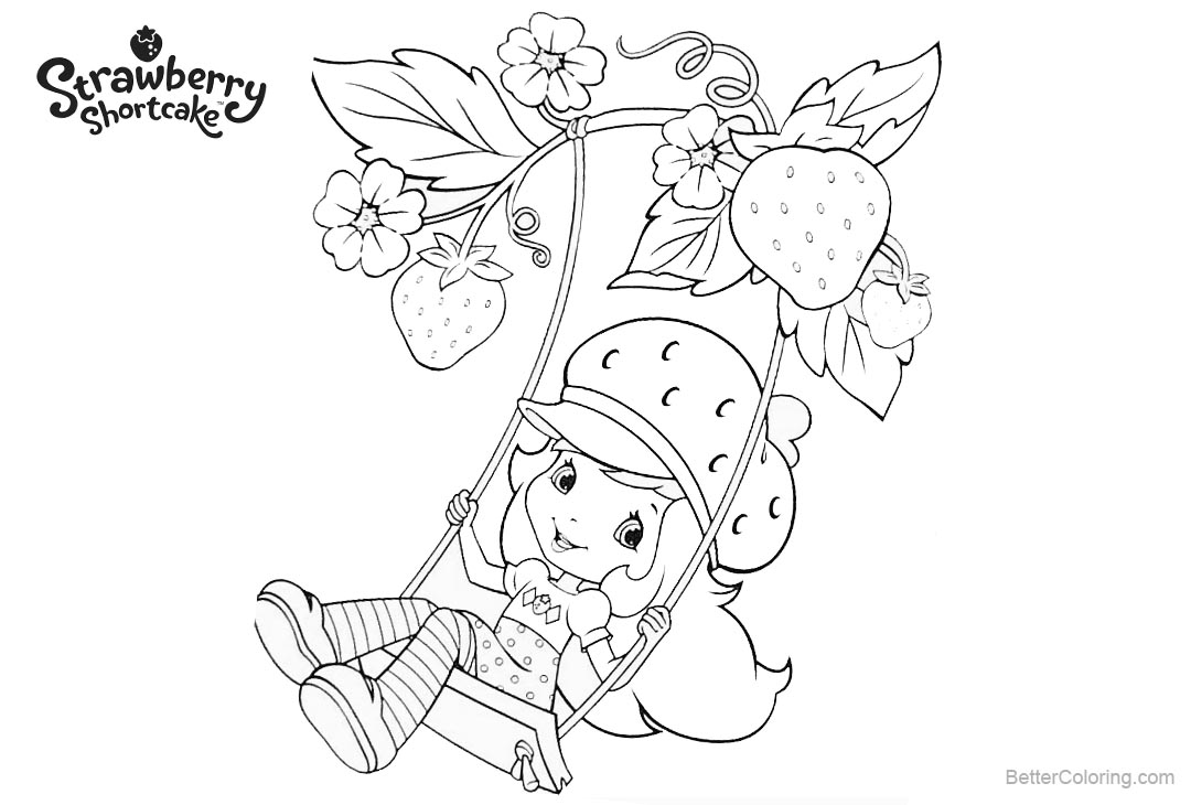 Free Strawberry Shortcake Coloring Pages Play Swing printable