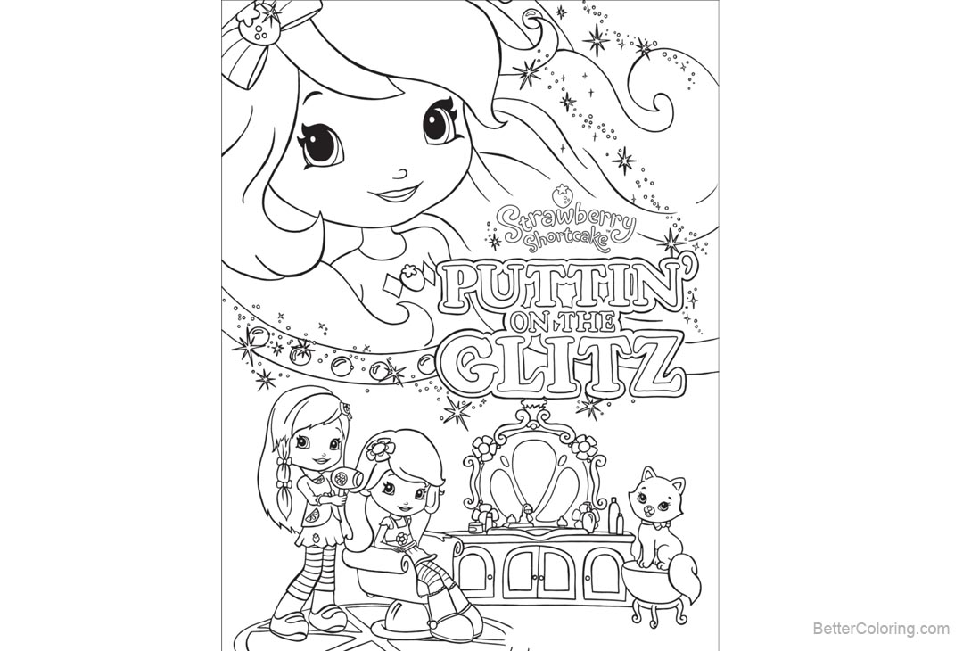 Free Strawberry Shortcake Coloring Pages Puttin on the Glitz printable