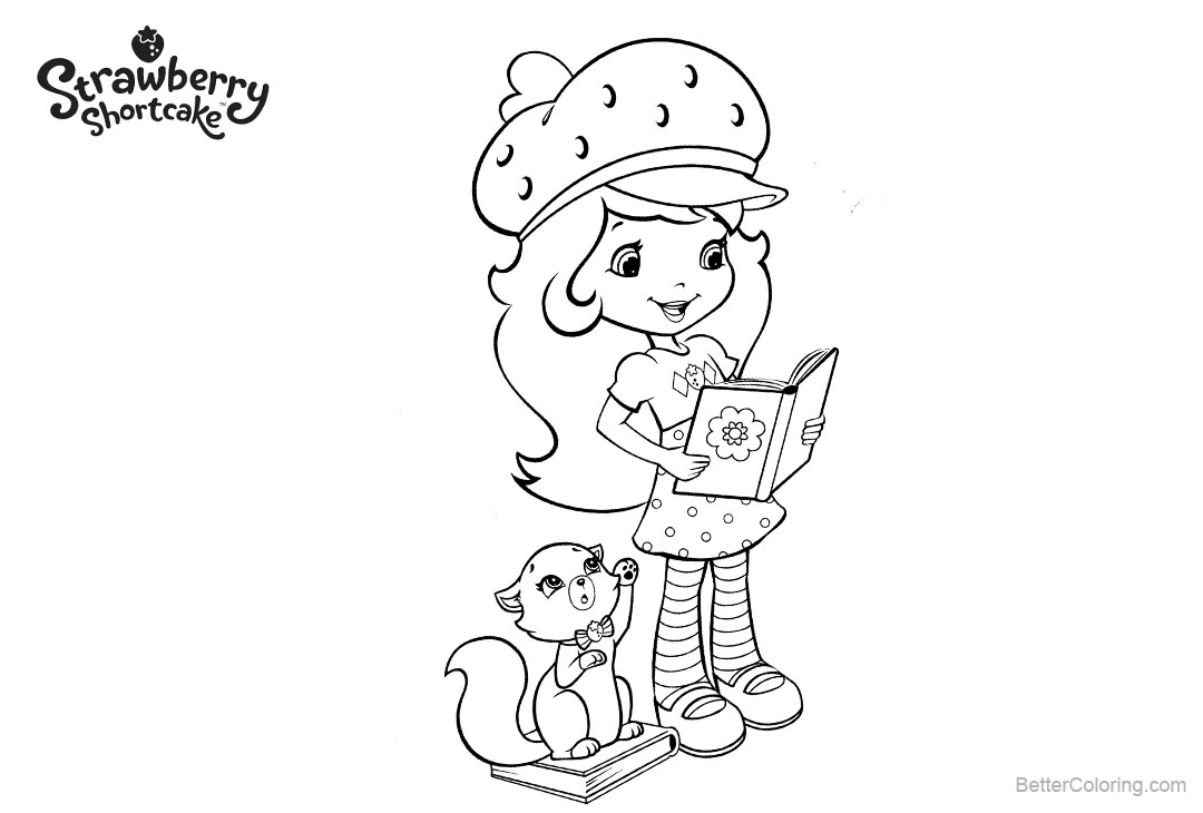 Free Strawberry Shortcake Coloring Pages Reading printable