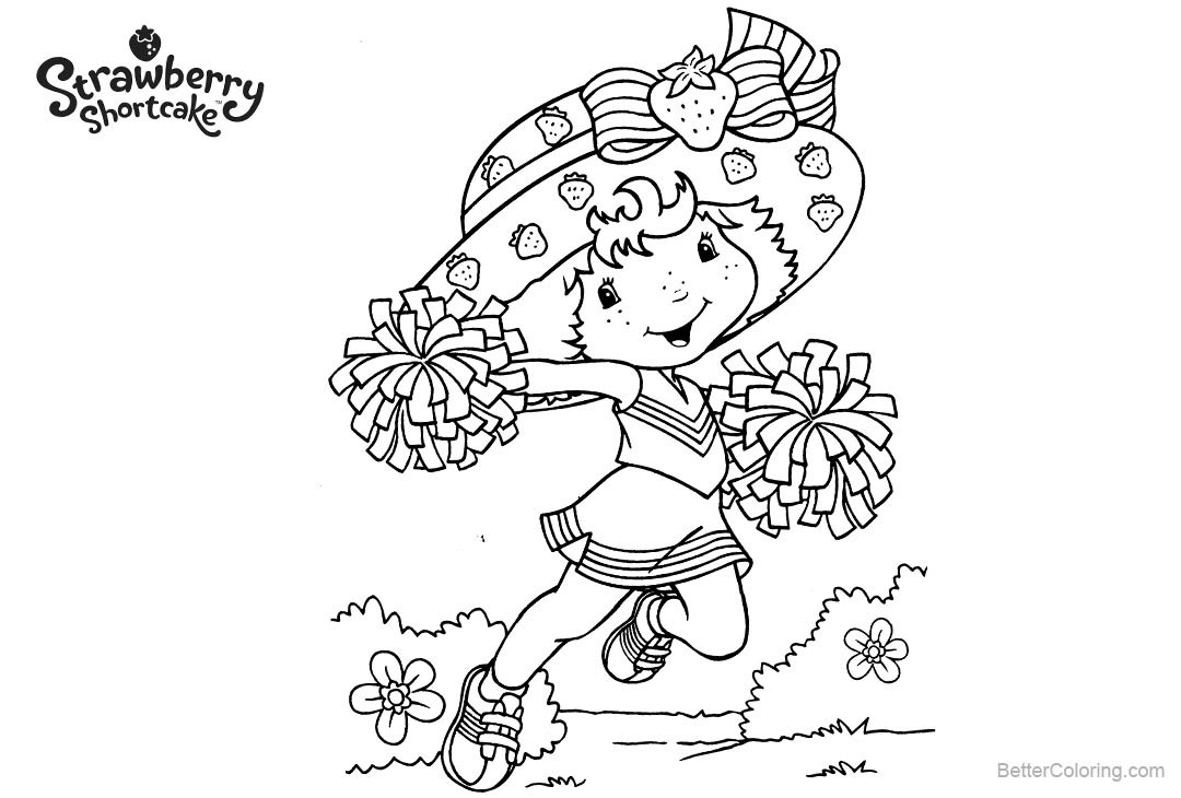 Free Strawberry Shortcake Coloring Pages Running printable