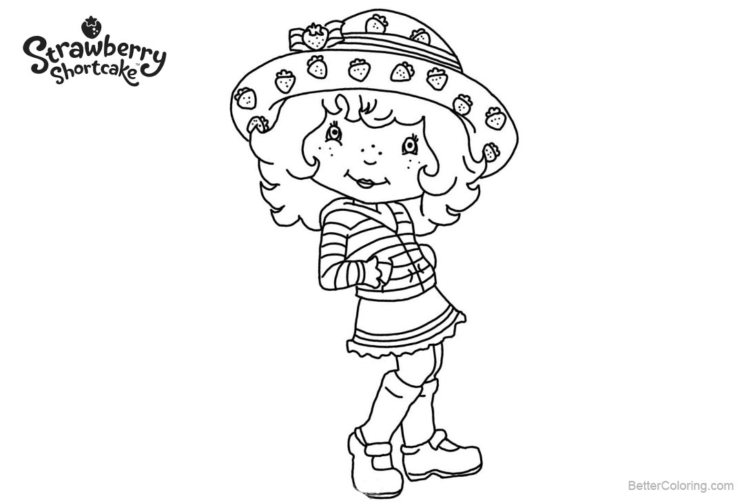 photo relating to Strawberry Shortcake Printable Coloring Pages identify Strawberry Shortcake Coloring Web pages with Huge Hat - Cost-free