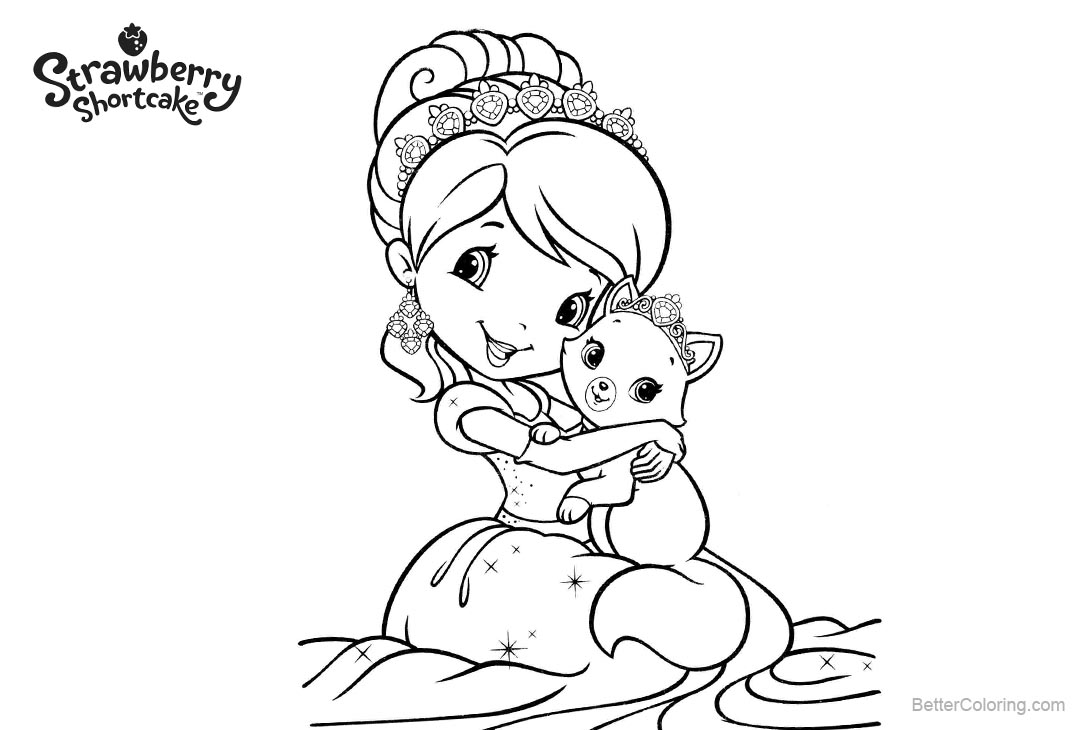 Free Strawberry Shortcake Girl Coloring Pages printable
