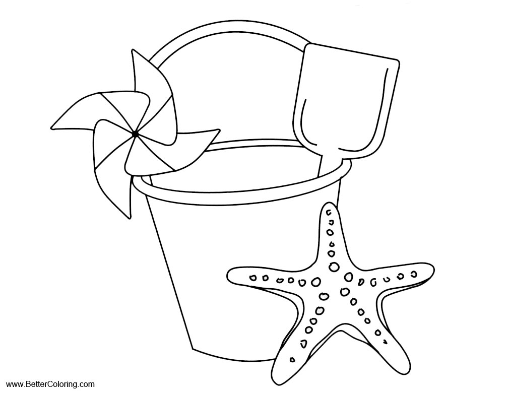 Free Summer Beach Fun Coloring Pages printable