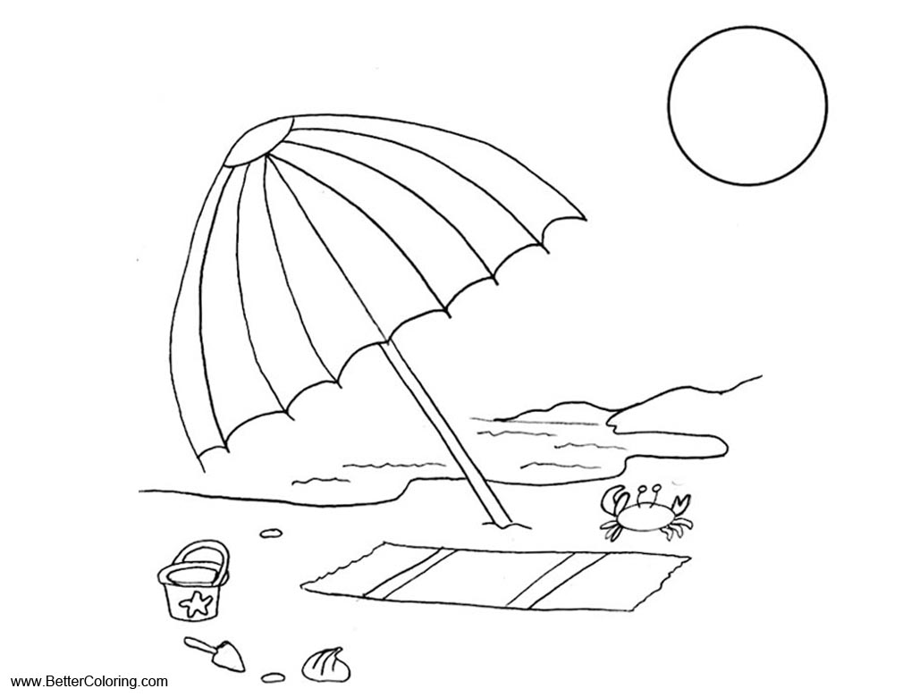 Summer Fun Coloring Pages Beach Vacation