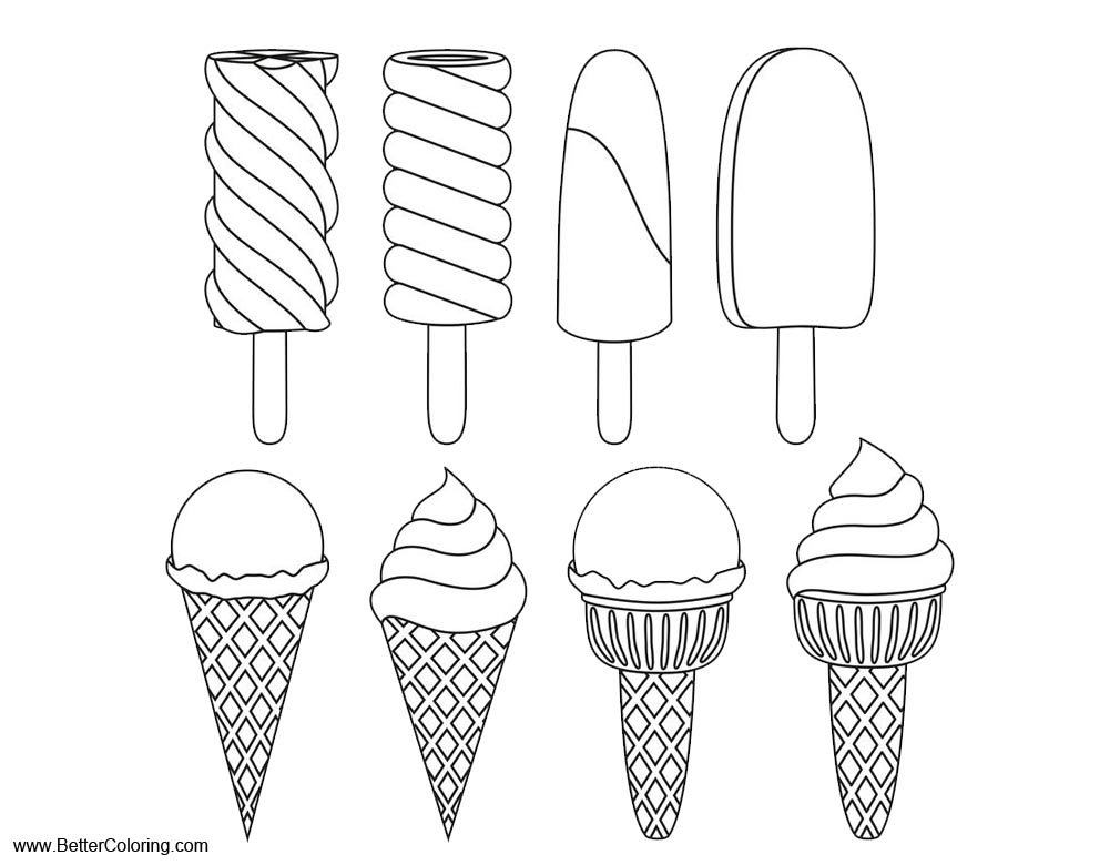 Summer Fun Coloring Pages Ice Cream