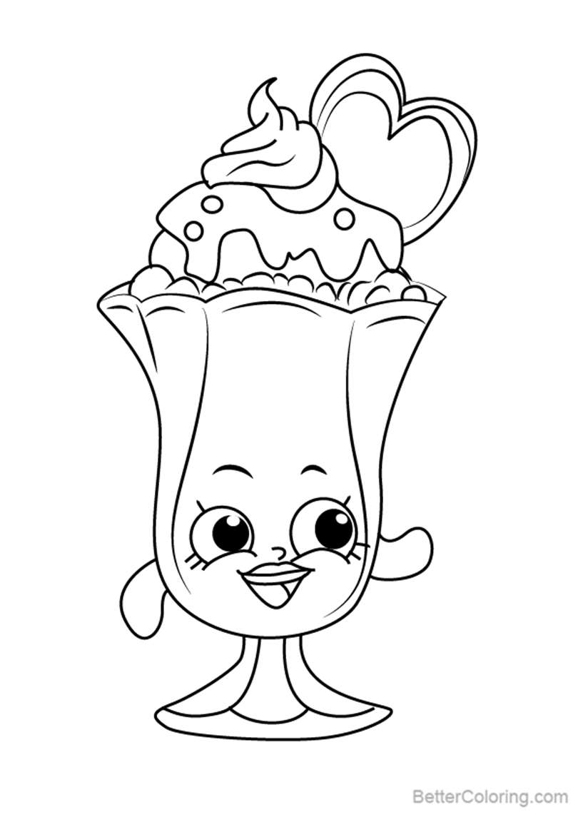 suzie sundae coloring pages - photo#3