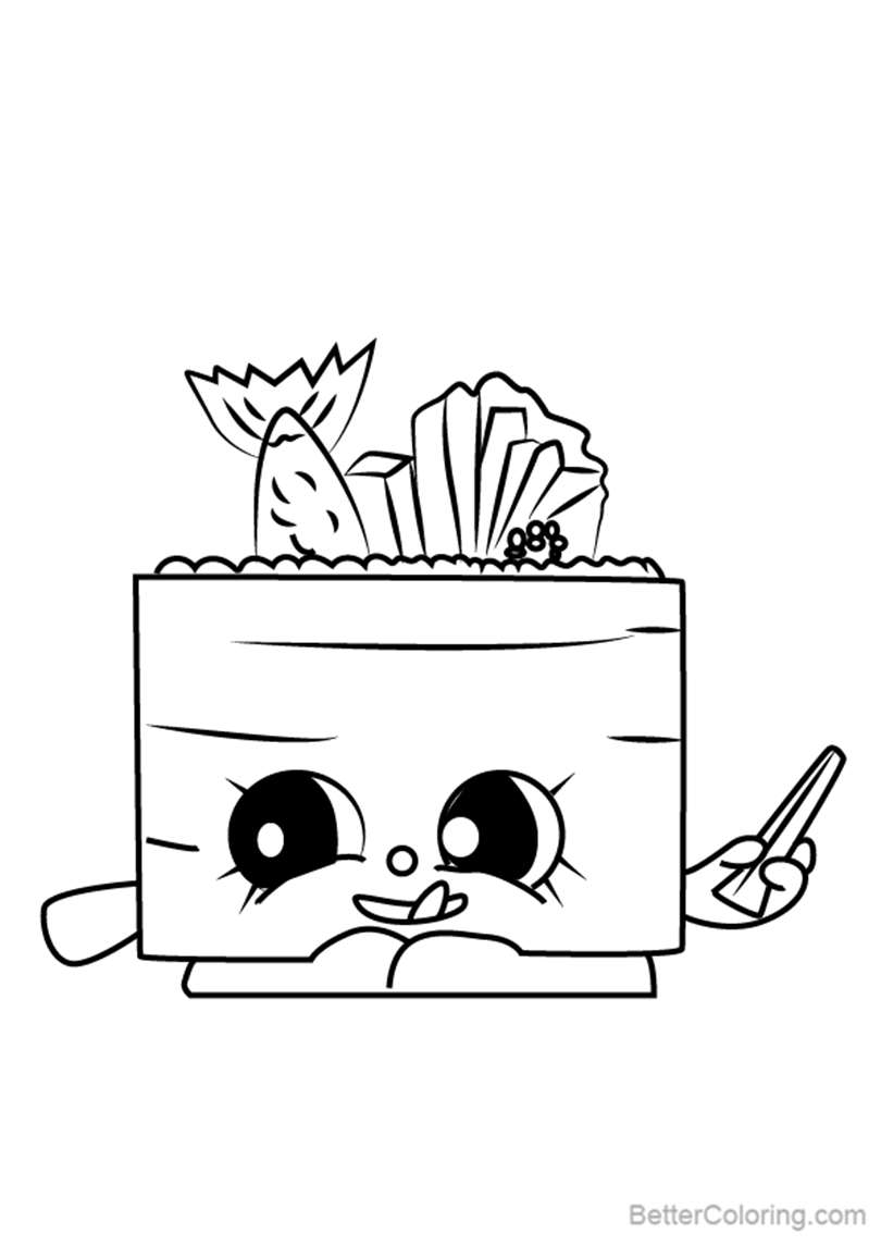 Free Suzie Sushi from Shopkins Coloring Pages printable