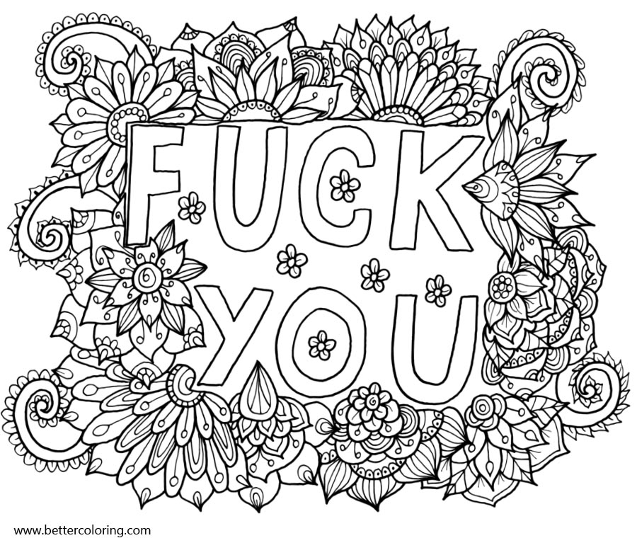 Swear Word Coloring Pages Fuck You Free Printable Coloring Pages