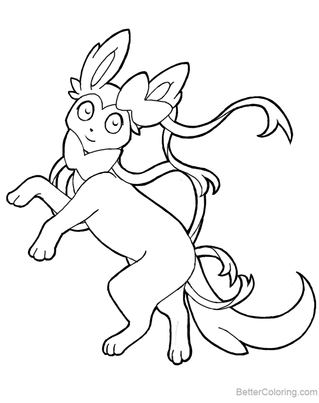 Free Sylveon Coloring Pages by queenen printable