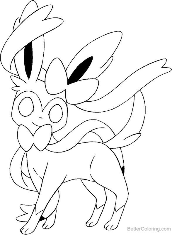 Free Sylveon Coloring Pages printable