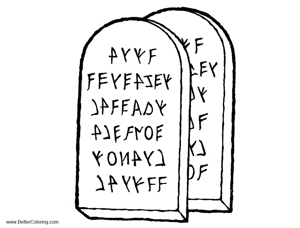 coloring pages ten commandments tablets for sale | Tablets of Ten Commandments Coloring Pages - Free ...