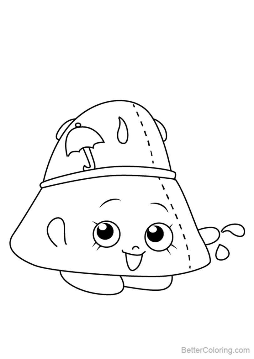 Free Taylor Rayne from Shopkins Coloring Pages printable