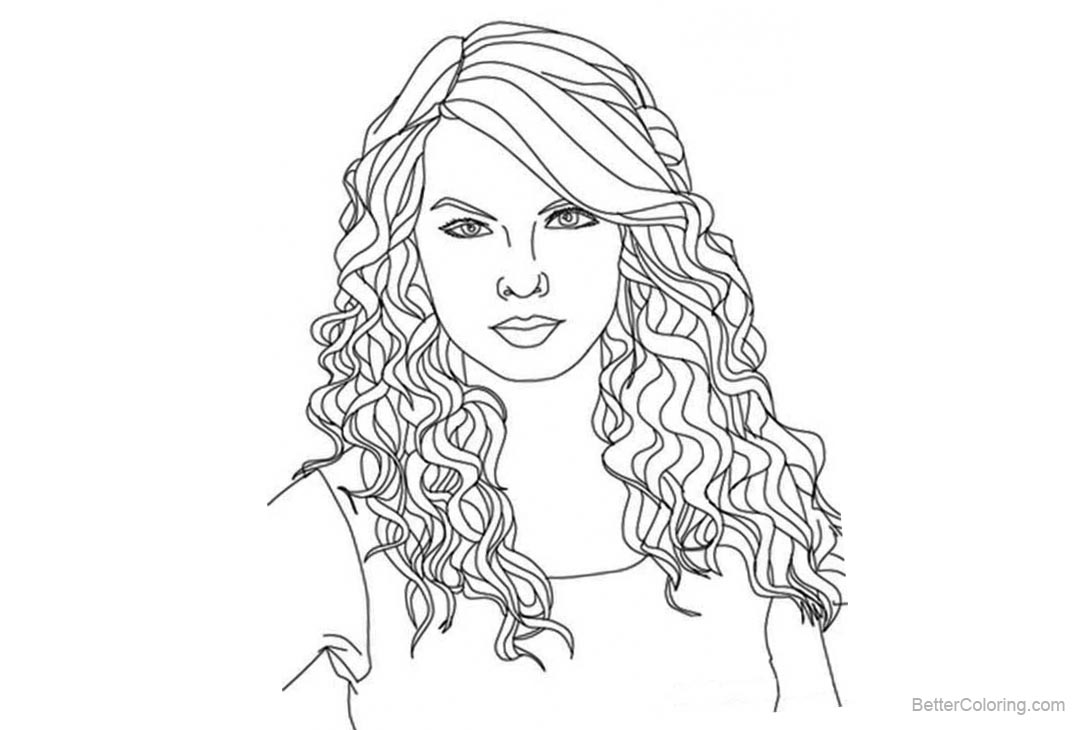 Drawing Lines With Swift : Best taylor swift coloring pages pictures