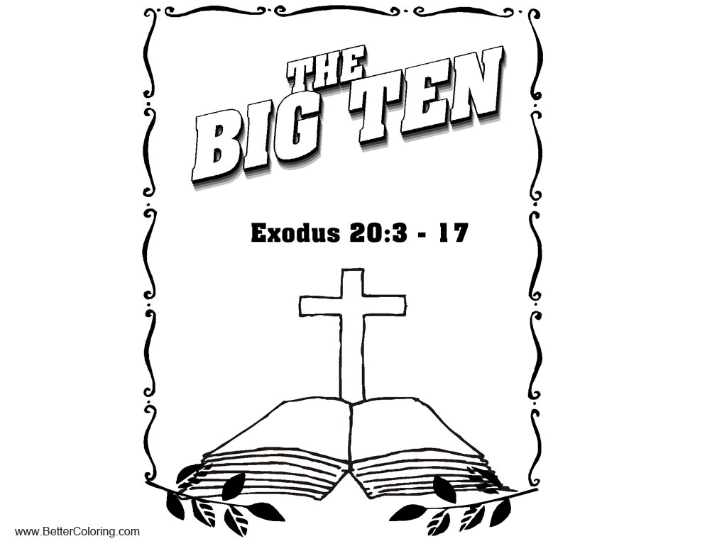 Ten Commandments Coloring Pages Exodus - Free Printable Coloring Pages