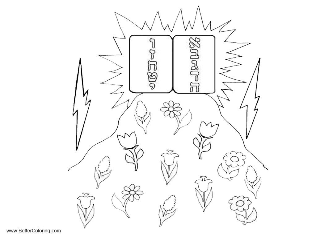 Free Ten Commandments Coloring Pages Har Sinai Sand Art Bulk printable