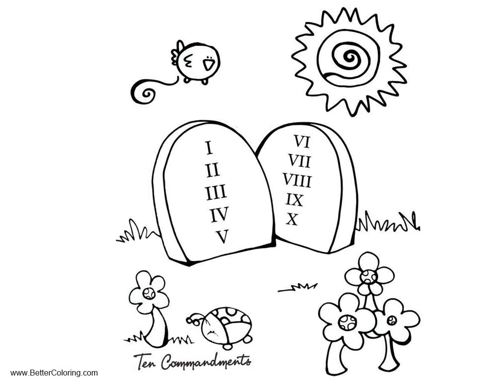 Ten Commandments Coloring Pages Obey God's Word - Free ...