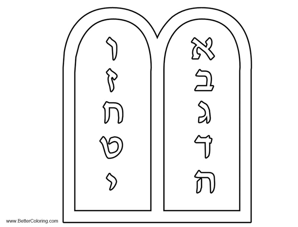Free Ten Commandments Coloring Pages Outlined printable