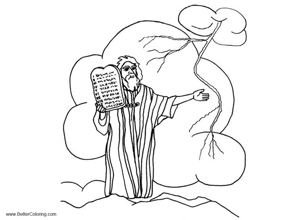 Ten Commandments Coloring Pages Simple Drawing - Free Printable ...