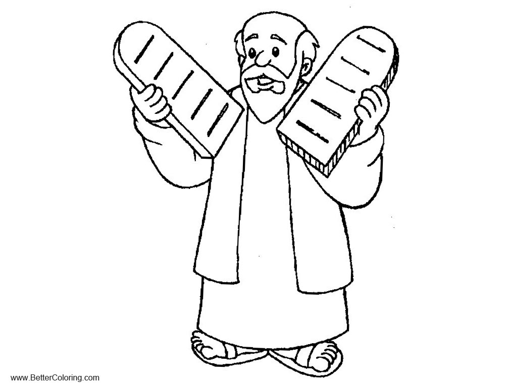 Free Ten Commandments Coloring Pages and Moses Clipart printable