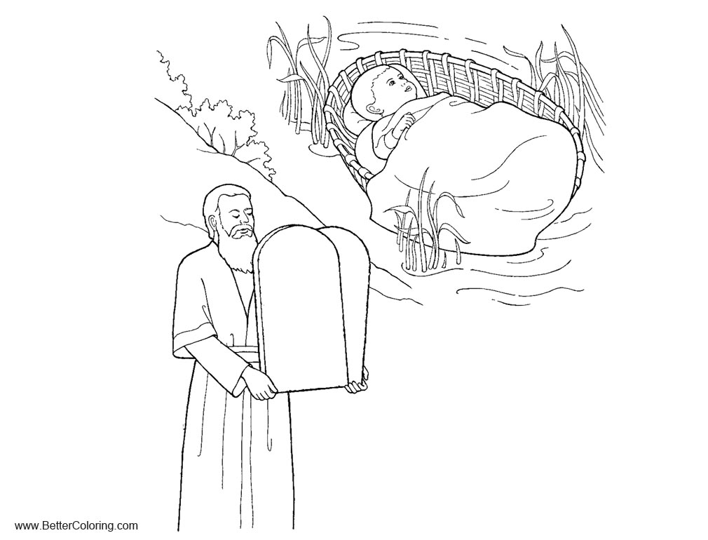 Ten Commandments Coloring Pages With Child Free