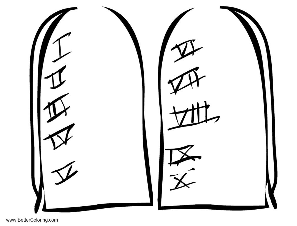Free Ten Commandments Coloring Pages printable